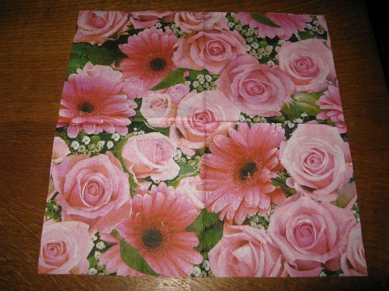 Album - Serviettes Fleurs