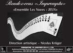 """Ensemble Les Noces """"Jeux"""" - 19 janvier 2014 à Ronchin (auditorium)"""
