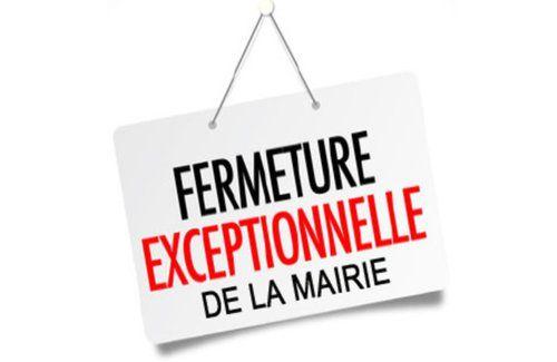 Fermeture Secrétariat de Mairie - Permanences du Maire