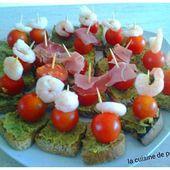 Toast sans gluten au pesto, tomates et crevettes. - La cuisine de poupoule