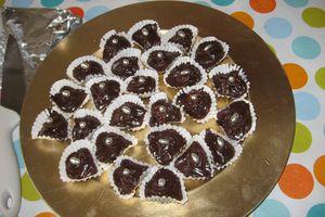 Bouchées au chocolat et aux cerises