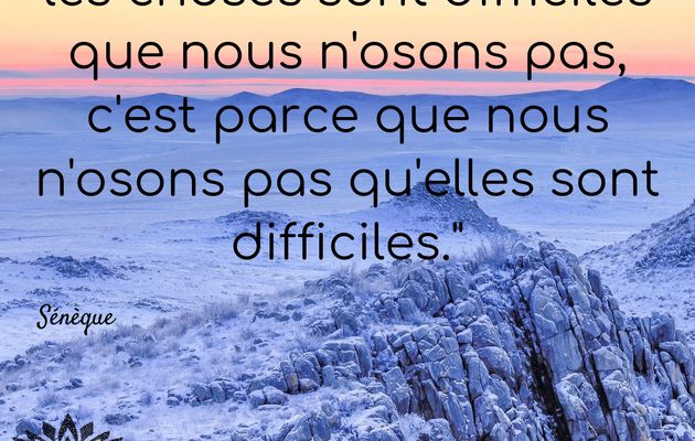 Les choses difficiles
