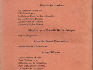 """Gérard de Lacaze-Duthiers """"Philosophie de la Préhistoire"""", préface de Han Ryner (Flammarion - 1931)"""