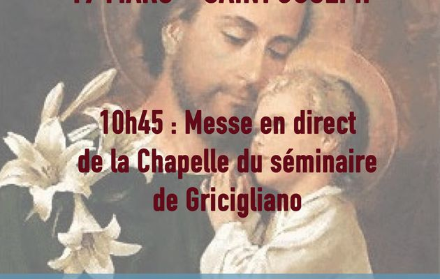 Saint Joseph : Messe en direct