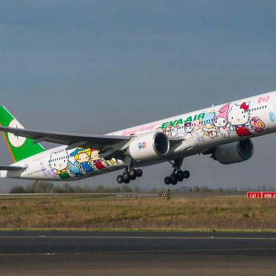Hello Kitty..sur un avion !