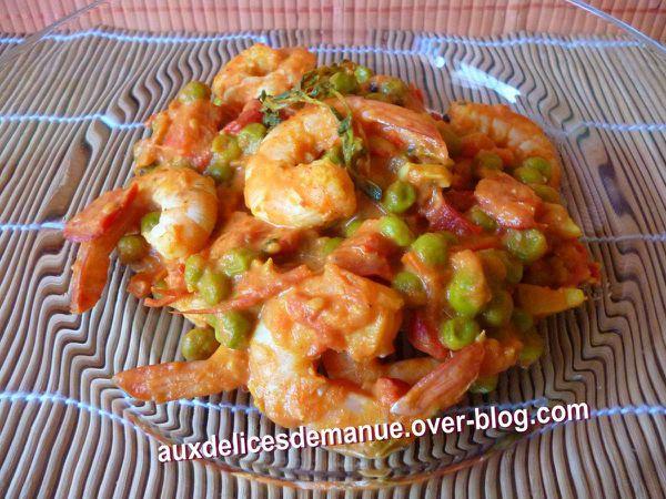 crevettes aux légumes et épices -LIGHT-