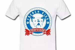 T shirt France Humour french kiss professeur HBL