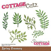 CZCC-244 : DIE VERDURE DE PRINTEMPS - Spring Gree COTTAGE CUTZ FEE DU SCRAP