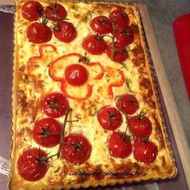 Tarte à la tomate et courgette