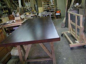 Fabrication plateau de table en chêne sur-mesure pour une table originale Levallois-Perret