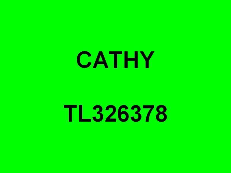 CATHY  TL326378