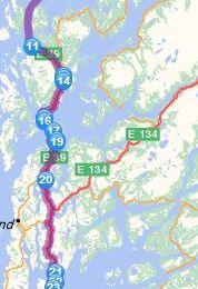 Dag 21 Haukeland -> Stavanger (207.7 km)