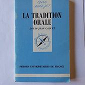 Amazon.fr : choix d'achat : La tradition orale by Louis-Jean Calvet (1997-10-01)