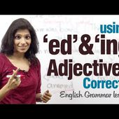 Using 'ed' and 'ing' adjectives correctly - English Grammar lesson ( 2) - INGLESE SENZA SFORZO