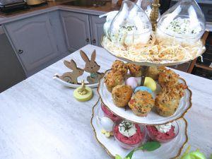 Apéritifs - Pâques - Trio - Recette - Cuisine - 2019 - Oeufs - Mimosa - Crème - Betteraves - Mini - Cake - Jambon - Olive - Verrines - Printemps
