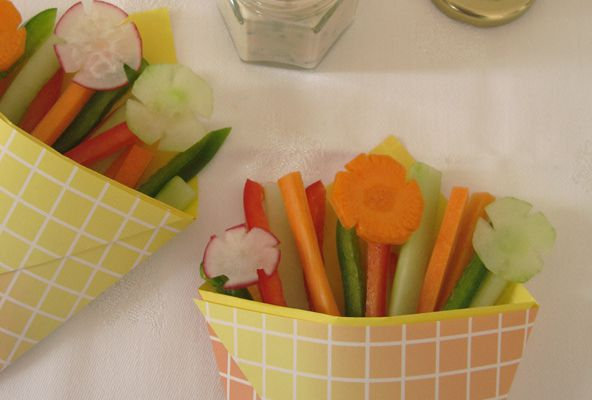 Crudités paper cups ou pocket - DIY ♥ Pliage origami
