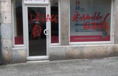 """Besançon : Permanence """"Ensemble"""" (LREM) vandalisée"""