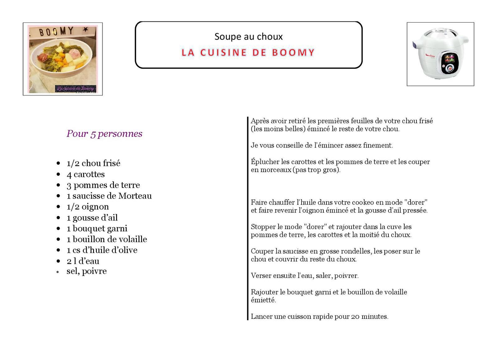 Soupe aux choux (Cookeo)