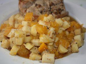 Panais & butternut en accompagnement puis en crumble de pain d'épices