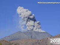 Sabancaya volcano celebrates 4 years of continuous eruptive process with the recording of more than 37,000 explosions - one click to enlarge thumbnails