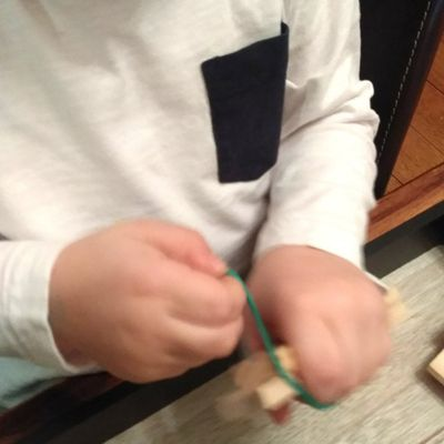 Plateau Kaplas élastiques - Montessori à ma façon