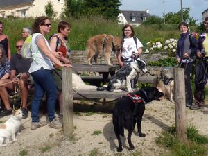 L'équipe au rendez-vous de parking du viaduc des Ponts Neufs à Morieux pour le tour de l'étang du Pont Rolland.