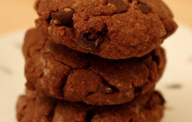 Cookies tout chocolat - Sans lactose