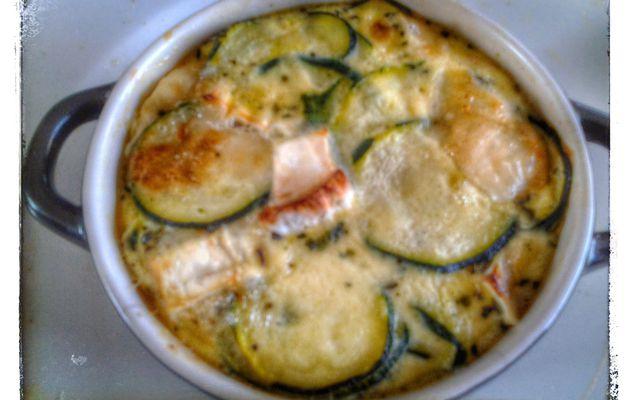 Flan de courgette, fromage de chévre et basilic au thermomix