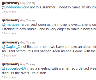 Guy Oseary gives more details on future projects Madonna