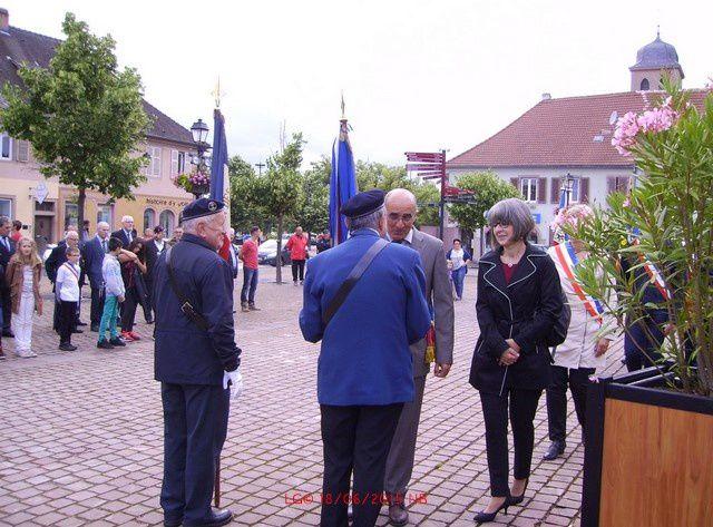 Cérémonie commémorative de l'Appel du 18 juin 1940 du Général de Gaulle à Neuf-Brisach