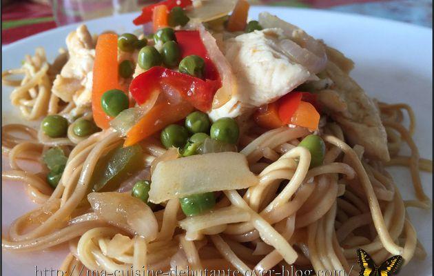 Nouilles chinoises sauce aigre douce