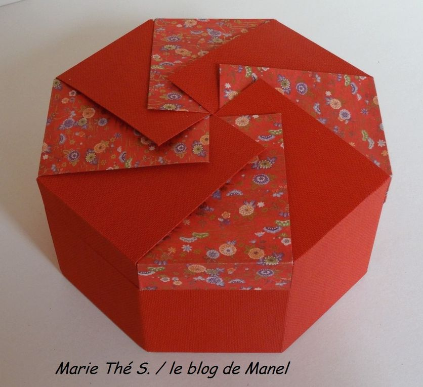 MARIE THE S. / ELEVE DE MANEL / BOITE OCTO A ONGLET COUVERCLE ORIGAMI