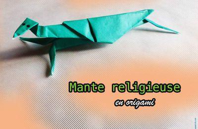 Réaliser une mante religieuse en origami