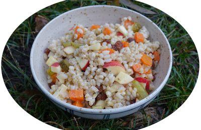 Salade d'orge mondé sucré-salée - IG Bas