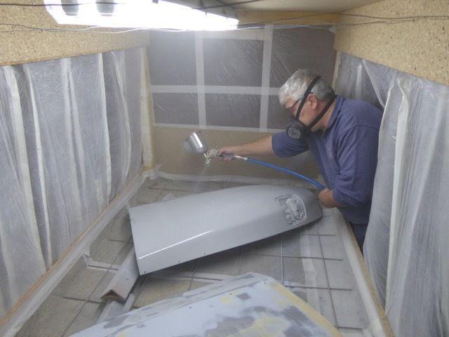 La cabine marche très bien et sans aucune dispersion de peinture dans l'atelier.