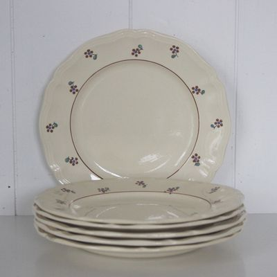 Lot de 6 assiettes plates Arromanches Digoin Sarreguemines
