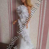 tuto gratuit barbie: robe de mariée , fourreau et dentelle - Chez Laramicelle