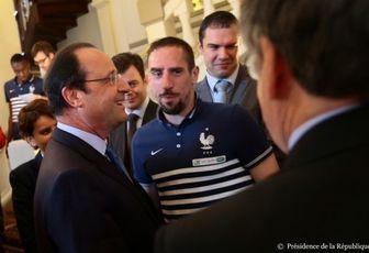 Franck Ribéry coaché par Hollande
