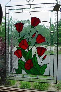 Stained glass poppie