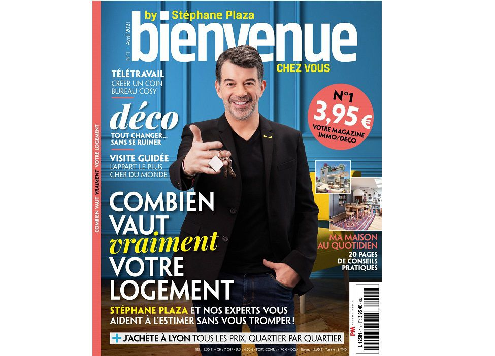 Le Groupe M6 et Prisma Media lancent le magazine « Bienvenue chez vous by Stéphane Plaza »