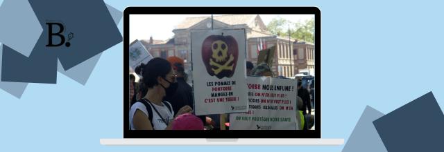 Grosse mobilisation citoyenne pour dénoncer les pratiques illégales des vergers de Fontorbe à Lavaur ce 24 avril