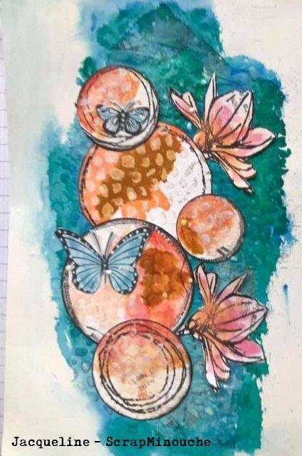 Art Journal_Ronds et papillons