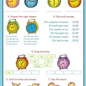 The hours Interactive worksheet