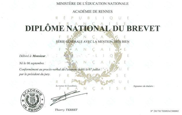 Résultats du Brevet National (DNB) de nos élèves de troisièmes