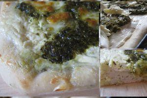 Pizza blanche au pesto