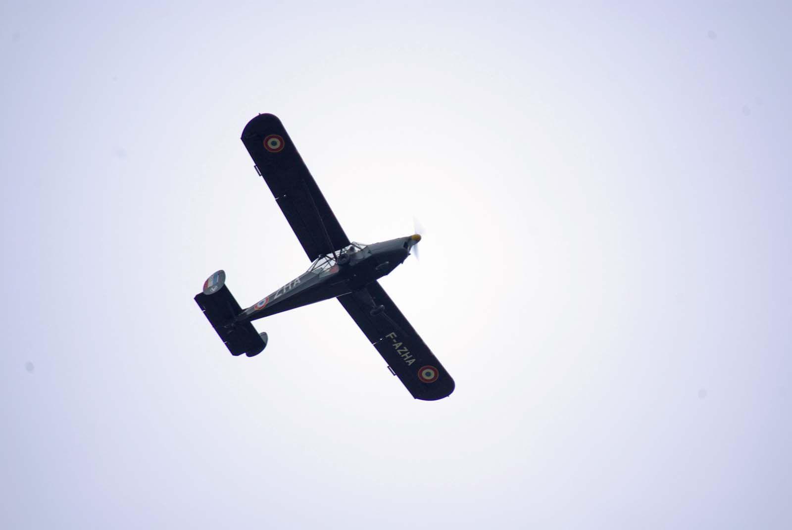 Voici une machine que l'on a pas l'habitude de voir voler car, peut être aujourd'hui, le seul en état de voler.
