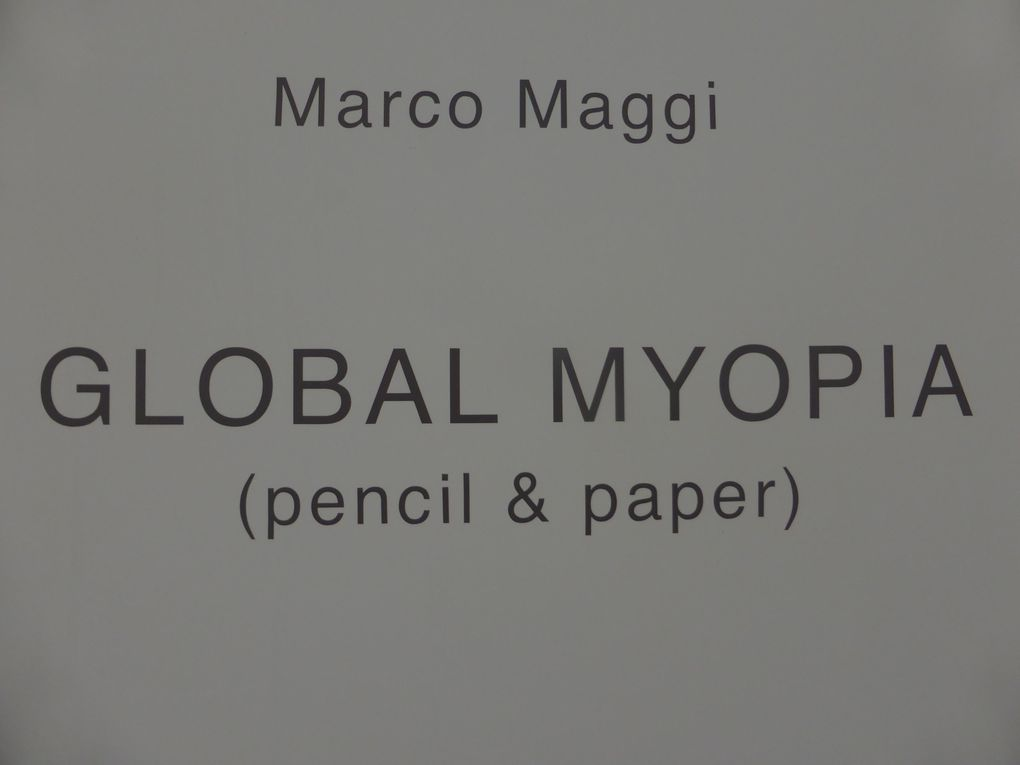 GLOBAL MYOPIA (pencil & paper). Pavillon de l'Uruguay © Le Curieux des arts Gilles Kraemer. 56ème exposition Internationale d'Art - la Biennale di Venezia. 7 mai & 27 octobre 2015