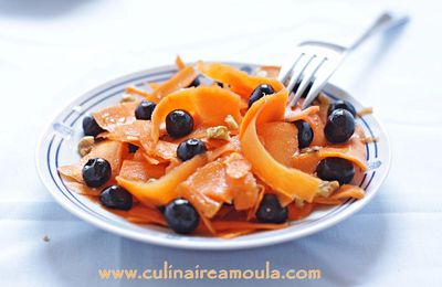 Salade de carottes et myrtilles