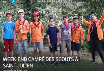 WEEK-END CAMPÉ DES SCOUTS À SAINT JULIEN