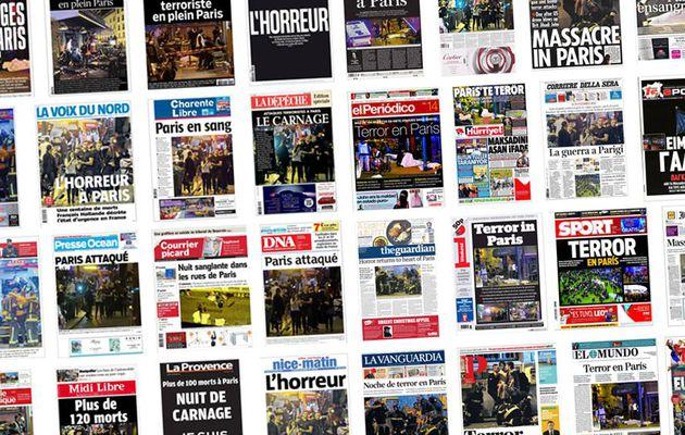 Les attentats de Paris à la Une des journaux du monde entier
